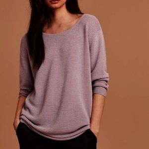 Aritzia Wilfred Blanchard Sweater Lilac Ribbed S